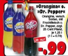 [JAWOLL] Dr. Pepper 1,25l / Orangina versch. Sorten 1,25l für 0,99€