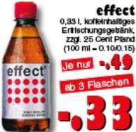 [JAWOLL] Effect Energy Drink 0,33l für 0,33€ ab 3 Flaschen