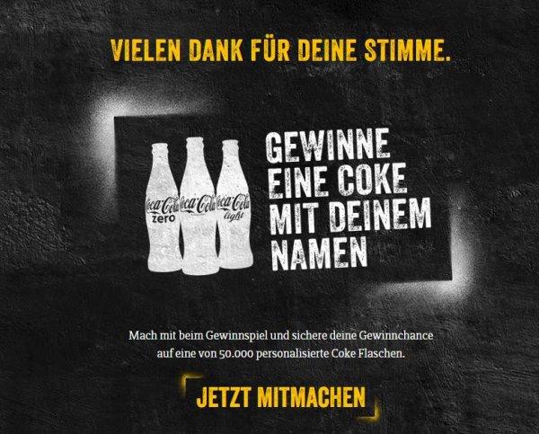 Gratis Cola mit eigenem Namen