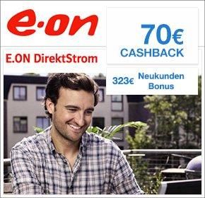 [QIPU] EON Stromtarife 70€ Cashback + bis zu 323€ Start Bonus / Strom , Gas