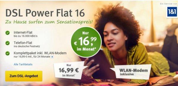 Web.de DSL 16.000 Internet-/Telefonflat 24M 17,40€/Monat