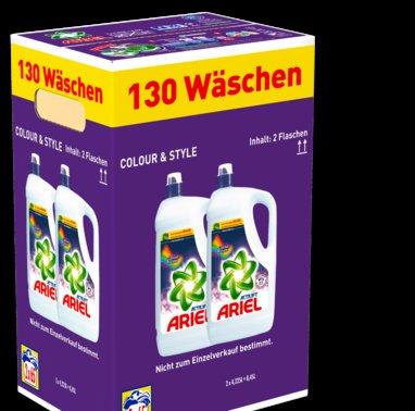 ARIEL - Deal bei Penny: 130 Waschladungen COLOR (flüssig) oder ACTILIFT (Pulver) für 18,99 Euro (14,6 Cent / WL)