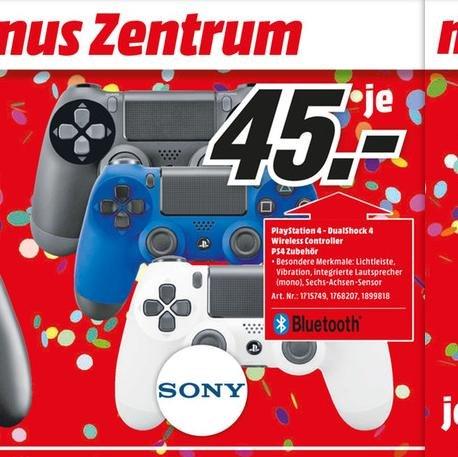 [Lokal Media Markt Sulzbach] Sony PS4 Controller für 45€ in Schwarz, Blau und Weiß