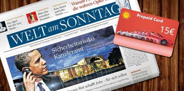 Welt am Sonntag (9 Ausgaben) für effektive 8,40€