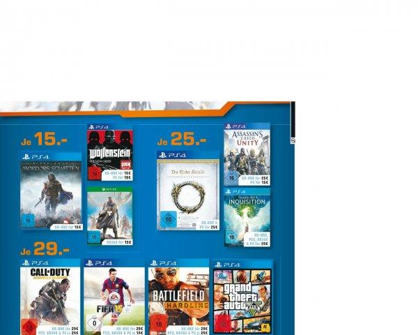 *LOKAL* KÖLN Saturn  viele PS4/Xbox One Spiele stark reduziert