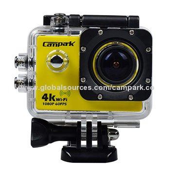 4k-Actioncam CAMPARK ACT72 WIFI 1.5 Zoll 4K@10FPS FULL HD 16M CMOS Sony Sensor 170° Weitwinkelobjektiv