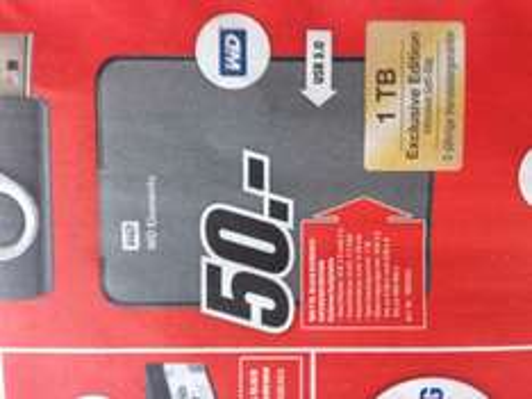 [Lokal | Media Markt Düsseldorf]: WD Elements 2,5 Zoll externe Festplatte 1 TB für 50 EUR