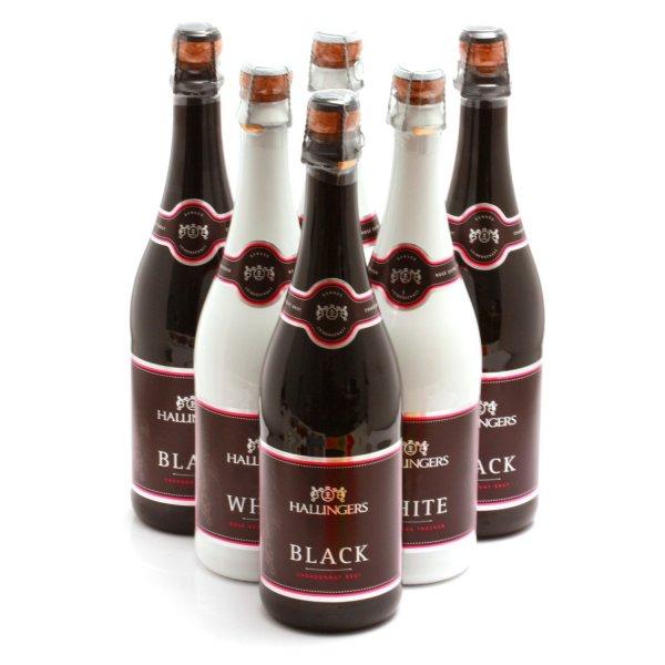 Hallingers Sekt Black & White Chardonnay & Rosé 2012 (6 x 0.75 l) / 44,80 € (53%) billiger, als der nächst günstige Setverkaufspreis und 49,30 € Preisersparnis zum Einzelkauf / Versand und Verkauf durch Amazon