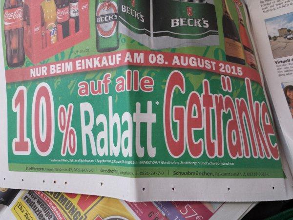 Marktkauf Lokal Stadtbergen (Augsburg) Augustiner Helles Kasten 20 x 0,5 l
