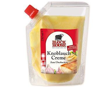 [HANAU] Kaufland: Block House Knoblauch Creme zum Überbacken 250ml für 1,19€ statt 2,39€ [MHD:07.08.15]