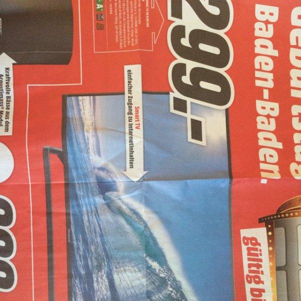 [Lokal - Mediamarkt Baden-Baden] Panasonic TX 39 ASW 504 LED-TV Smart-TV, Tripletuner, 100Hz für 299,00 €