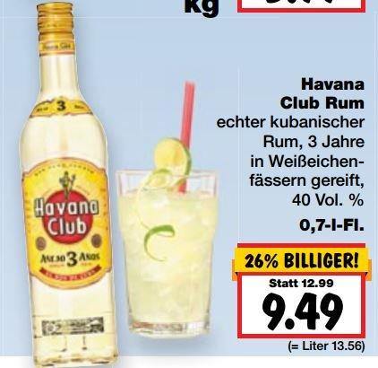 [Kaufland ab 10.08] Havana Club 3 Años 0,7L 9,49€ (in einigen Städten sogar nur 8,88€)