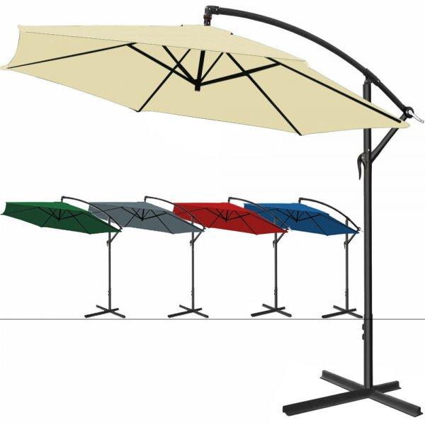 ALU Sonnenschirm Ampelschirm 300cm Kurbelschirm Marktschirm Gartenschirm HUG @eBay 49,95 Euro