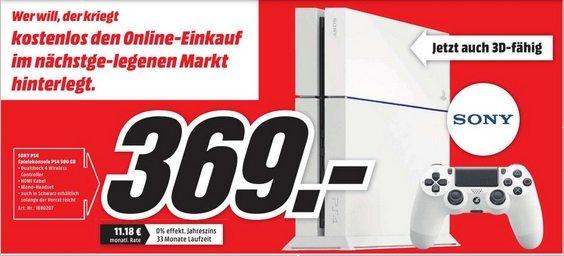 [lokal Oldenburg] Playstation 4 (PS4) Weiß @mediamarkt 295€