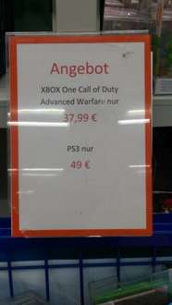 Call of Duty Advanced Warfare fur Xbox One 37,99€ fur Playstation 3 - 49€ @Saturn CentrO Oberhausen