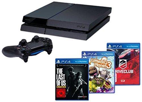 (Amazon.de) PlayStation 4 - Konsole (500GB) inkl. DriveClub, Little Big Planet 3 und The Last of Us: Remastered für 340,20€ und die Normale PS4 für 308,02€