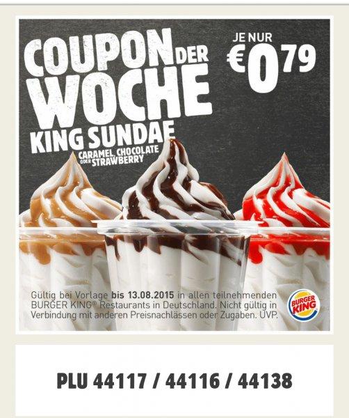 King Sundae für 0,79€ @ Burger King
