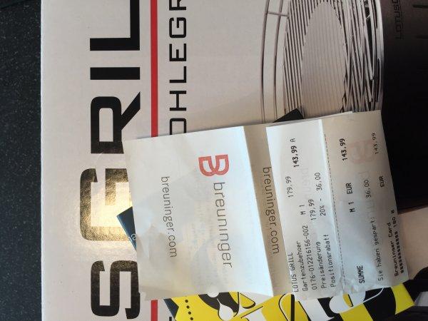 Lokal Breuninger Sindelfingen: Lotusgrill XL für 144€