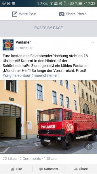 [lokal München] Freibier am odeonsplatz