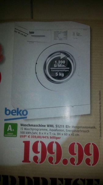Beko WML 51211 EI+ Waschmaschine FL für 199€ (im Marktkauf Speyer) lokal ?