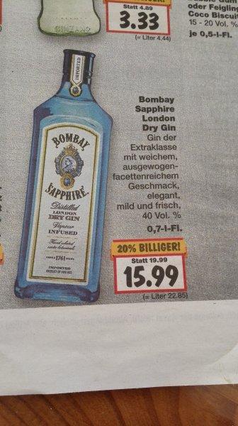 Lokal? Kaufland Bombay Sapphire Gin