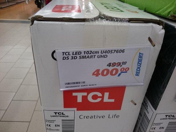 """[bundesweit Restposten] TCL 40"""" Zoll 4K UHD 3D LED TV - U40S7606 bei real für 400€"""