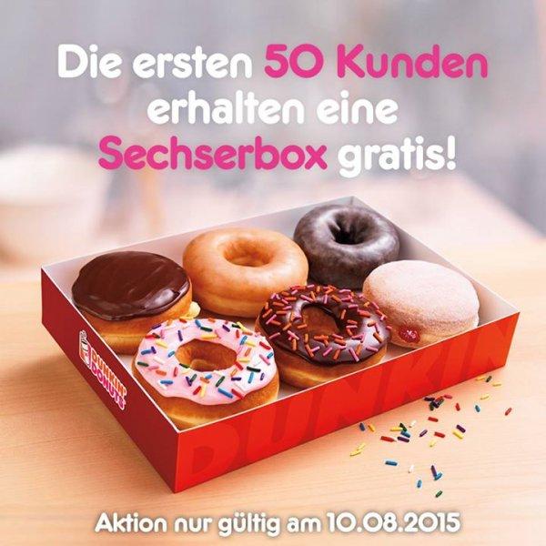 [Mannheim] Dunkin Donuts - Gratis 6er Box für die ersten 50! am 10.08.2015