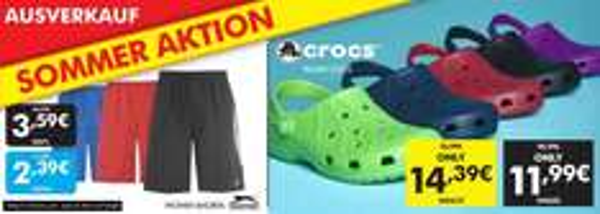 (Preis für classic black Kinder) Crocs Ausverkauf bei sportsdirect, noch diverse normale Größen und Farben vorhanden