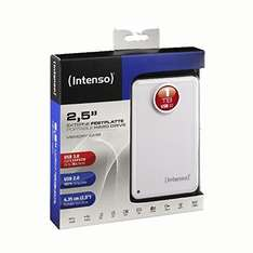 [Saturn] INTENSO Externe Festplatte 2.5 Zoll 1 TB weiß für 50 € (mit NL-Gutschein), VSK-frei