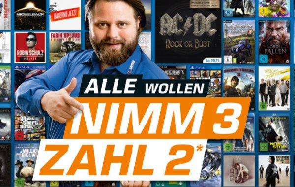 "[Saturn Aachen] ""3 kaufen, 2 bezahlen"" - Witcher 3, Payday 2, GTA V, Batman... XO & PS4"