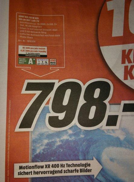 [Lokal Media Märkte Aschaffenburg]  Sony KDL 60 W 605    Smart TV ohne 3D  798€