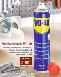 「ALDI Nord」 WD-40 Multifunktionsöl 300ml ab 17.08.15, 2,59€