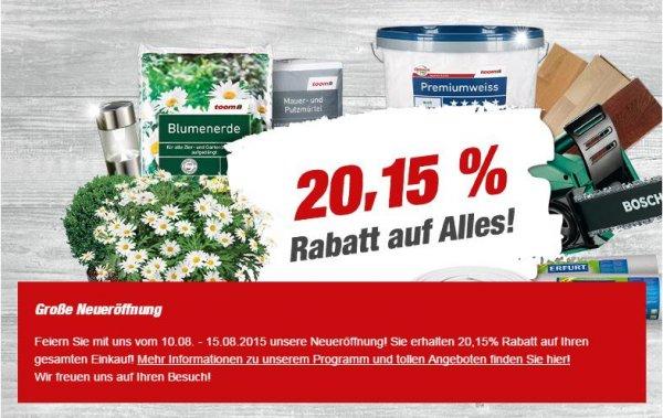 [LOKAL] Oberursel bei Frankfurt am Main - 20,15% auf Alles bei Toom Baumarkt