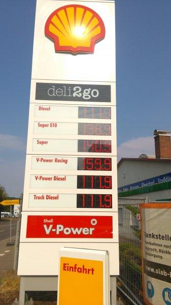 SHELL V-Power Diesel für 1,119€ in Sindelfingen