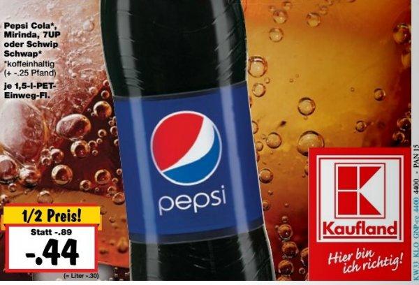 Lokal Kaufland Berlin Pankow - Pepsi 1,5 Liter für 44 Cent - Havana Club Rum für 8,88 Euro, Leerdamer Käse für 1,11 Euro
