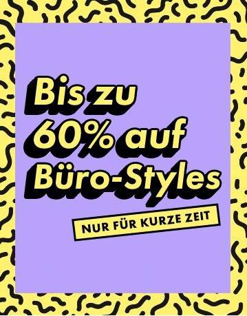 Asos: bis HEUTE, 13.00 Uhr, -60% auf Damen Büro-Styles, VSK ab 30€ frei