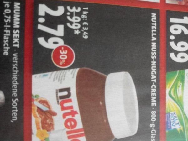 abgelaufen!!! ( Kaisers) Nutella 800 Gramm Glas 2,79€