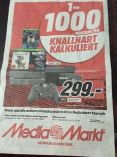 MediaMarkt Bayreuth: Xbox One 500 GB + Halo Masterchief Edition + Rare Replay Collection + Call of Duty Ghosts für 299,-