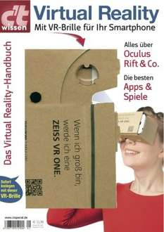 "VR-Brille (Made in Germany) in der Zeitschrift ""c't wissen Virtual Reality"""