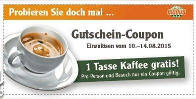[Lokal] Globus Losheim: Gratis Kaffee (Coupon im Faltblatt)