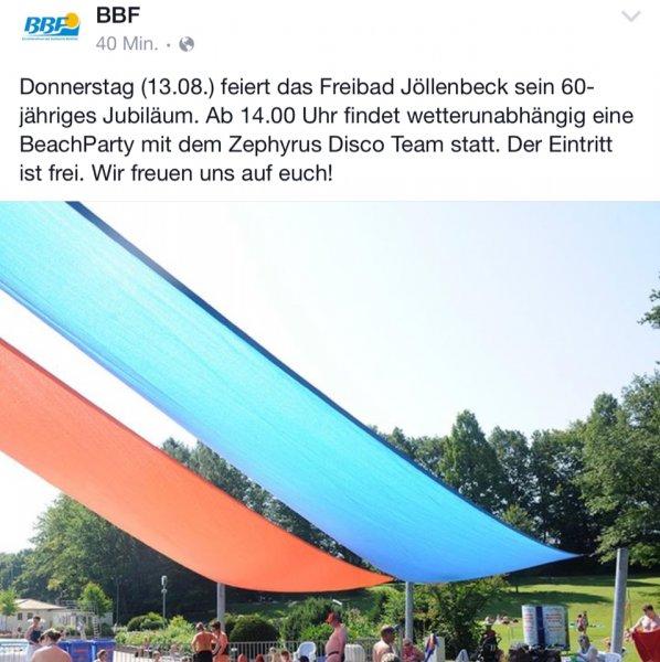 Freibad Jöllenbeck Bielefeld 13.08.15 Kostenloser Eintritt
