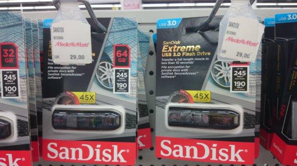 [lokal] SanDisk Extreme USB 3.0 64GB @ Mediamarkt Berlin Weißensee