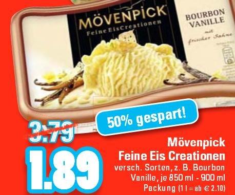 [Edeka Rhein-Ruhr] Mövenpick Feine Eis Creation 1,89€ ab 17.08