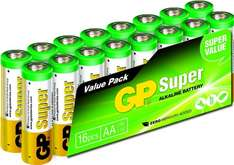 [Amazon-Prime] GP GP15A-2VS16 LR6 Super Alkaline AA Mignon Batterie (16-er Pack)