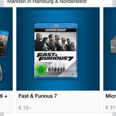 Fast and Furious 7 Blu Ray für 10€ bei Saturn Hamburg & Norderstedt