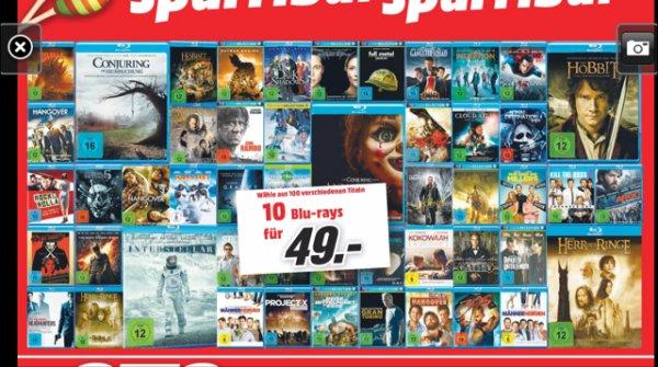 [Lokal?] Media Markt Bochum/Castrop 10 Blu-Rays 49€