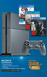 [Lokal - Saturn Kassel+Baunatal]PS4 + The Last of Us + Infamous First Light + The Order 1886 für 349€