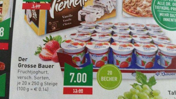 [Marktkauf NRW] Der Grosse Bauer Fruchtjoghurt versch. Sorten 20x 250g = 7,00€ (1x 250g = 0,35€)