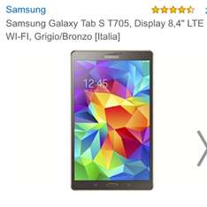 Samsung Tab S 8.4 LTE @Amazon.it bronze/gold