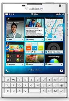 [Amazon.de] BlackBerry Passport Smartphone (11,4 cm (4,5 Zoll) Display, Nano-SIM, QWERTZ, 32GB interner Speicher, 13 Megapixel Kamera, Blackberry OS 10.3) weiß als Blitzangebot für 399 € / PVG ab 458,19€